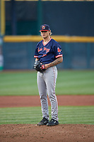Portland Sea Dogs starting pitcher Tanner Houck (20) during an Eastern League game against the Erie SeaWolves on June 17, 2019 at UPMC Park in Erie, Pennsylvania.  Portland defeated Erie 6-3.  (Mike Janes/Four Seam Images)