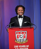 Cobi Jones. US Soccer held their Centennial Gala at the National Building Museum in Washington DC.