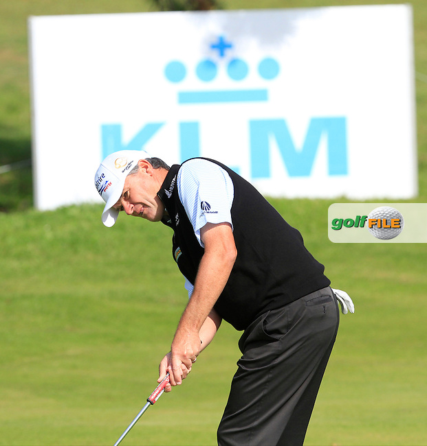 Paul Lawrie (SCO) on the 7th green during Round 1 of the 2015 KLM Open at the Kennemer Golf &amp; Country Club in The Netherlands on 10/09/15.<br /> Picture: Thos Caffrey | Golffile