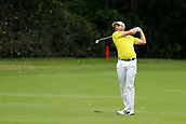 28th May 2017, Fort Worth, Texas, USA; Sergio Garcia hits his approach shot to #5 during the final round of the PGA Dean & Deluca Invitational at Colonial Country Club in Fort Worth, TX.