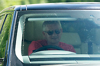 21st May 2020, Manchester, England;  Manchester United's manager Ole Gunnar Solskjaer leaves the club s Carrington training ground in Manchester, Britain on May 21, 2020. The Premier League clubs were allowed to start small-group training from Tuesday after the top-flight football league in England was suspended on March 13 due to COVID-19 outbreak.