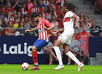 Atletico de Madrid vs Huesca Spanish league football match at Wanda Metropolitano in Madrid on September 25, 2018.<br /> Diego Costa; Semedo
