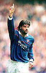 Rangers v Dundee Utd 23.8.97:  Marco Negri celebrates his second goal of the match