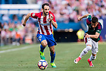 Juan Francisco Torres Belen, Juanfran, of Atletico de Madrid in action against Alex Berenguer Remiro of Osasuna (R) during the La Liga match between Atletico de Madrid vs Osasuna at Estadio Vicente Calderon on 15 April 2017 in Madrid, Spain. Photo by Diego Gonzalez Souto / Power Sport Images
