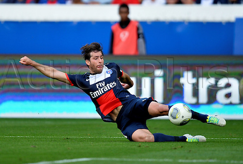 31.08.2013. Paris, France. French League football. Paris St Germain versus Guingamp Aug 31st.  Maxwell (psg)