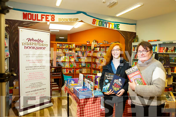 Sive O'Callaghan Leahy and Brenda Woulfe of Woulfe's Bookshop
