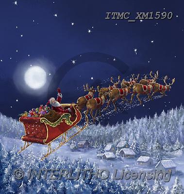 Marcello, CHRISTMAS SANTA, SNOWMAN, WEIHNACHTSMÄNNER, SCHNEEMÄNNER, PAPÁ NOEL, MUÑECOS DE NIEVE, paintings+++++,ITMCXM1590,#X#