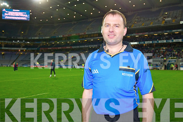 Kerry Referee Padraig O'Sullivan and his team who were the match officials for the Intermediate all Ireland final at Croke park on Saturday.