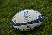 11th January 2020, Parc des Sports Marcel Michelin, Clermont-Ferrand, Auvergne-Rhône-Alpes, France; European Champions Cup Rugby Union, ASM Clermont versus Ulster;  Official Champions cup ball on display