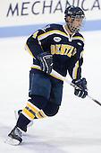 Mike Switzer (Bentley - 4) - The Northeastern University Huskies defeated the Bentley University Falcons 3-2 on Friday, October 16, 2009, at Matthews Arena in Boston, Massachusetts.