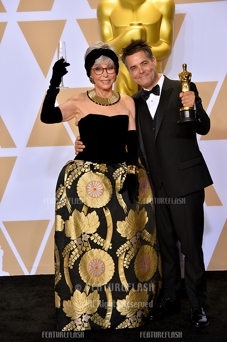 Rita Moreno &amp; Sebastian Lelio at the 90th Academy Awards Awards at the Dolby Theartre, Hollywood, USA 04 March 2018<br /> Picture: Paul Smith/Featureflash/SilverHub 0208 004 5359 sales@silverhubmedia.com
