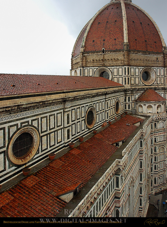 Brunelleschi Dome from top of Campanile Santa Maria del Fiore Florence