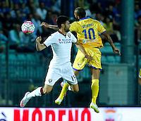 Danilo Soddimo e Marco Benassi durante l'incontro di calcio di Serie A   Frosinone - Torino  allo  Stadio Matusa di   di Frosinone ,23 Agosto 2015
