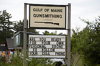 Gulf of Maine Gunsmithing is pictured in Raymond, Maine Tuesday June 18, 2013.