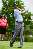 Matt Kuchar (USA) watches his tee shot on 18 during round 1 of the Valero Texas Open, AT&amp;T Oaks Course, TPC San Antonio, San Antonio, Texas, USA. 4/20/2017.<br /> Picture: Golffile | Ken Murray<br /> <br /> <br /> All photo usage must carry mandatory copyright credit (&copy; Golffile | Ken Murray)