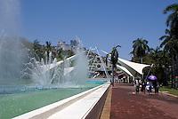 Fountains in front of the Convention Centre or Centro de Convenciones in Acapulco, Mexico