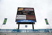 Cary, North Carolina  - Wednesday May 24, 2017: Sahlen's Stadium Scoreboard prior to a regular season National Women's Soccer League (NWSL) match between the North Carolina Courage and the Sky Blue FC at Sahlen's Stadium at WakeMed Soccer Park. The Courage won the game 2-0.