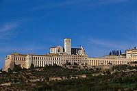 Italien, Umbrien, Kirche und Kloster San Francesco in Assisi