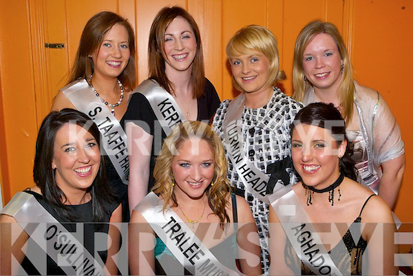 KERRY ROSE: Some of the regional Kerry Rose contestants enjoying a night out at the Kingdom Greyhound Stadium on Saturday night front l:r , Emer Madden, Ballyard, Jackie O'Mahoney, Spa Road Tralee and Evonne Ahern, Killarney. Back l:r Cloina Brosnan, Listry, Catriona Delahunty, Dingle, Emma Quirke, Listellick North and Fionnula Ni Mhaoileoin, An Daingean.   Copyright Kerry's Eye 2008