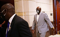 Philonise Floyd, brother of George Floyd, departs after testifying before the United States House Judiciary committee on policing practices and law enforcement accountability prompted by the death of George Floyd while in police custody, at the US Capitol in Washington, DC on June 10, 2020.<br /> Credit: Mandel Ngan / Pool via CNP/AdMedia
