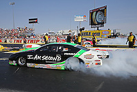 Apr. 7, 2013; Las Vegas, NV, USA: NHRA pro stock driver Mike Edwards during the Summitracing.com Nationals at the Strip at Las Vegas Motor Speedway. Mandatory Credit: Mark J. Rebilas-