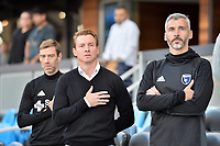 San Jose, CA - Wednesday June 28, 2017: Steve Ralston, Chris Leitch, Alex Covelo prior to a U.S. Open Cup Round of 16 match between the San Jose Earthquakes and the Seattle Sounders FC at Avaya Stadium.