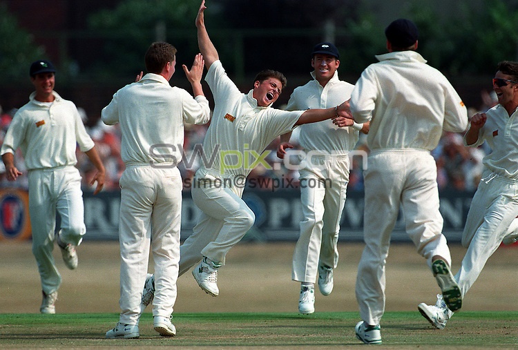 Pix:Michael Steele/SWpix...Cricket. Yorkshire v Lancashire, Headingley, 1995...COPYRIGHT PICTURE>>SIMON WILKINSON..Yorkshires Darren Gough.