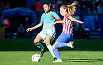 Atletico de Madrid Carmen Menayo and FC Barcelona Andressa Alves during match of La Liga Femenina between Atletico de Madrid and FC Barcelona at Vicente Calderon Stadium in Madrid, Spain. December 11, 2016. (ALTERPHOTOS/BorjaB.Hojas)
