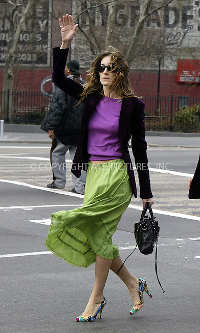 *** NON-EXCLUSIVE *** FEE MUST BE AGREED ***..'Sex and the City' legacy lives on. ..Sarah Jessica Parker wears 'Sex and the City' style clothes while having a business lunch at Da Silvano in Downtown. After the lunch, Parker and her companion tried to catch a cab, but there were no available taxis. Then a 'good Samaritan' came to help offering Parker his cab, and in return Sarah Jessica offered him a ride which he accepted. New York, March 3, 2004. Please byline: ACE Pictures.   ..*PAY-PER-USE*      ....IMPORTANT: Please note that our old trade name, NEW YORK PHOTO PRESS (NYPP), is replaced by our new name, ACE PICTURES. New York Photo Press and ACE Pictures are owned by All Celebrity Entertainment, Inc.......All Celebrity Entertainment, Inc:  ..contact: Alecsey Boldeskul (646) 267-6913 ..Philip Vaughan (646) 769-0430..e-mail: info@nyphotopress.com