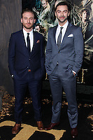 "HOLLYWOOD, CA - DECEMBER 02: Dean O'Gorman, Aiden Turner arriving at the Los Angeles Premiere Of Warner Bros' ""The Hobbit: The Desolation Of Smaug"" held at Dolby Theatre on December 2, 2013 in Hollywood, California. (Photo by Xavier Collin/Celebrity Monitor)"
