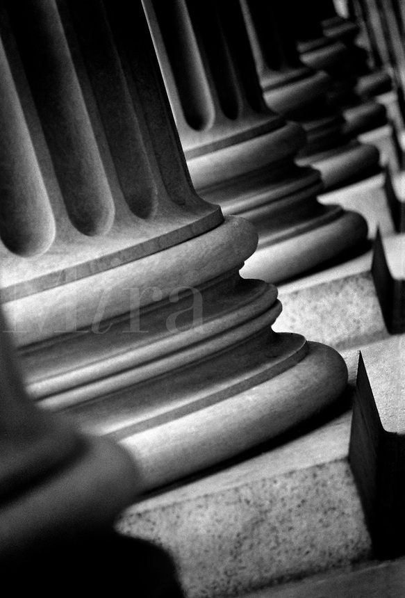 Detail of columns. Washington DC District of Columbia United States.