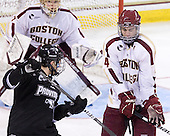 Andy Balysky (PC - 33), Tommy Cross (BC - 4) - The Boston College Eagles defeated the visiting Providence College Friars 4-1 (EN) on Tuesday, December 6, 2011, at Kelley Rink in Conte Forum in Chestnut Hill, Massachusetts.