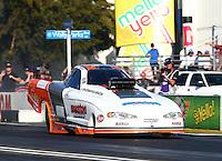 Feb 8, 2015; Pomona, CA, USA; NHRA top alcohol funny car driver Jonnie Lindberg during the Winternationals at Auto Club Raceway at Pomona. Mandatory Credit: Mark J. Rebilas-USA TODAY Sports
