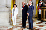 Vice President Soraya Saenz de Santamaria and External Subject Minister Jose Manuel Garcia Margallo before the official recepcion of the President of United States of America, Barack Obama in Madrid. July 10, 2016. (ALTERPHOTOS/BorjaB.Hojas)