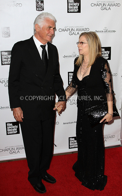 WWW.ACEPIXS.COM....April 22 2013, New York City....James Brolin, Barbra Streisand arriving at the 40th Anniversary Chaplin Award Gala at Avery Fisher Hall at the Lincoln Center on April 22, 2013 in New York City.....By Line: Zelig Shaul/ACE Pictures......ACE Pictures, Inc...tel: 646 769 0430..Email: info@acepixs.com..www.acepixs.com