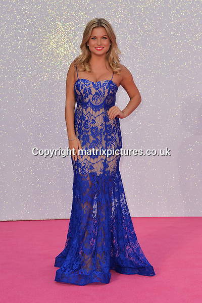 NON EXCLUSIVE PICTURE: MATRIXPICTURES.CO.UK<br /> PLEASE CREDIT ALL USES<br /> <br /> WORLD RIGHTS<br /> <br /> English reality TV personality and former Miss Great Britain Zara Holland attends the world premiere of &quot;Bridget Jones's Baby&quot; at Leicester Square in London.<br /> <br /> SEPTEMBER 5th 2016<br /> <br /> REF: JWN 162864
