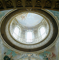 The dome was destroyed in the fire of 1940 but restored twenty years later when artist Scott Medd brought Pellegrini's ceiling fresco back to life