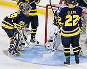 - The visiting Merrimack College Warriors tied the Boston College Eagles at 2 on Sunday, January 8, 2011, at Kelley Rink/Conte Forum in Chestnut Hill, Massachusetts.