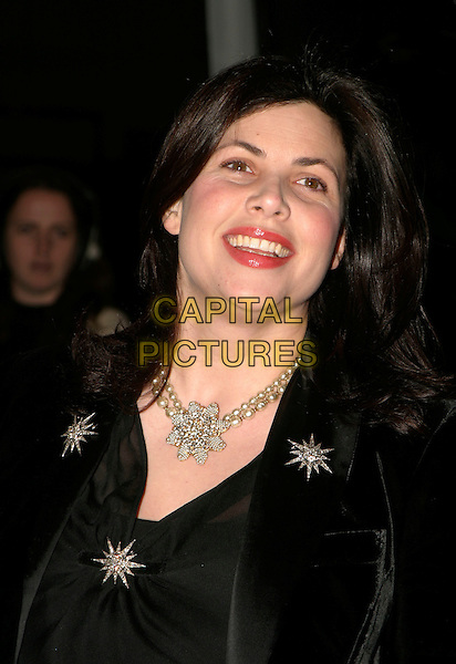 KIRSTIE ALLSOPP.Conservative Party Black & White Ball at Old Billingsgate Market, London, UK..February 8th, 2006.Ref: AH.headshot portrait pearl diamond necklace jewellery.www.capitalpictures.com.sales@capitalpictures.com.© Capital Pictures.