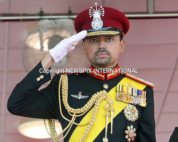 16.07.2016; Bandar Seri Begawan, Brunei: CROWN PRINCE HAJI AL-MUHTADEE BILLAH<br /> attends the parade in honour of his father Sultan Hassanal Bolkiah's 70th Birthday.<br /> The Sultan is ranked among the wealthiest individuals in the world.<br /> Mandatory Photo Credit: &copy;NEWSPIX INTERNATIONAL<br /> <br /> PHOTO CREDIT MANDATORY!!: NEWSPIX INTERNATIONAL(Failure to credit will incur a surcharge of 100% of reproduction fees)<br /> <br /> IMMEDIATE CONFIRMATION OF USAGE REQUIRED:<br /> Newspix International, 31 Chinnery Hill, Bishop's Stortford, ENGLAND CM23 3PS<br /> Tel:+441279 324672  ; Fax: +441279656877<br /> Mobile:  0777568 1153<br /> e-mail: info@newspixinternational.co.uk<br /> &ldquo;All Fees Payable To Newspix International&rdquo;
