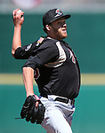 Sacramento's Andrew Werner pitches against the Reno Aces in Reno, Nev., on Sunday, April 14, 2013. The River Cats won 22-6..Photo by Cathleen Allison