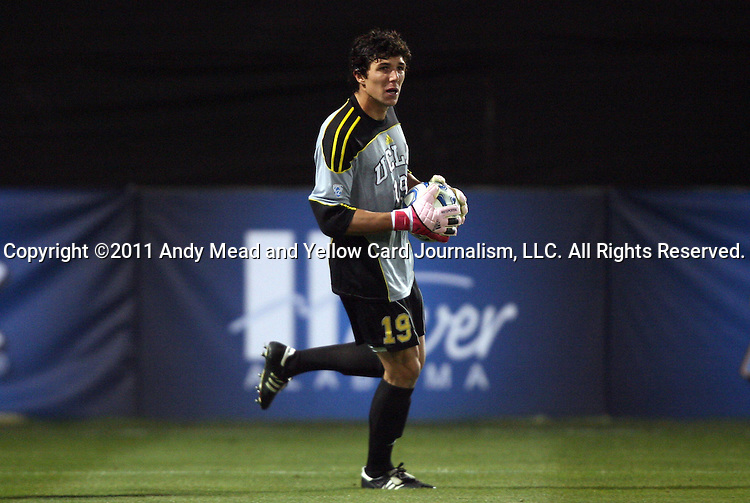 09 December 2011: UCLA's Brian Rowe. The University of California Los Angeles Bruins played the University of North Carolina Tar Heels to a 2-2 tie after overtime, with the Tar Heels advancing with a 3-1 win in the penalty kick shootout at Regions Park in Hoover, Alabama in an NCAA Division I Men's Soccer College Cup semifinal game.