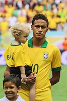 Neymar , do Brasil durante o amistoso contra a Austrália, realizado neste sábado no Estádio Mané Garrincha, em Brasília (DF). (Foto: Thiago Ferreira / Brazil Photo Press).