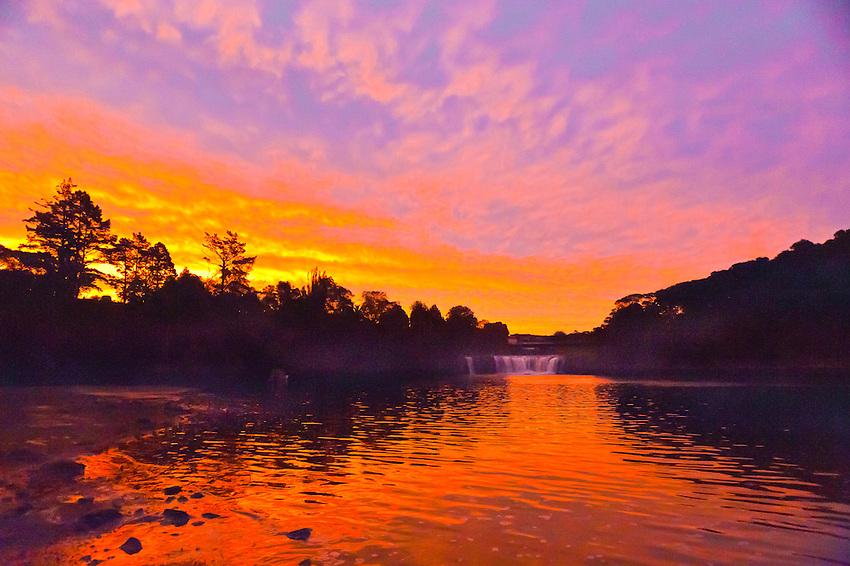 Haruru Falls, near Paihia, Bay of Islands, Northland, on the north island of New Zealand.
