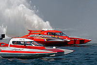 """Jimmy King, GP-10 """"The Charger"""" and Andrew Tate, GP-101 (Grand Prix Hydroplane(s)<br /> <br /> Régates de Valleyfield<br /> Salaberry Valleyfield, Québec Canada <br /> 10-12 July, 2015<br /> <br /> ©2015, Sam Chambers"""