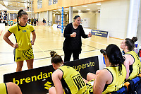 Central Manawa&rsquo;s Coach Pelesa Semu during the Beko Netball League - Central Manawa v Southern Blast at ASB Sports Centre, Wellington, New Zealand on Sunday 12 May 2019. <br /> Photo by Masanori Udagawa. <br /> www.photowellington.photoshelter.com