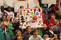 25 February 2007: Fans during Stanford's 56-53 win over USC at Maples Pavilion in Stanford, CA.