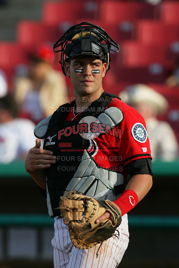 April 18, 2010: Travis Scott of the High Desert Mavericks during game against the Lake Elsinore Storm at Mavericks Stadium in Adelanto,CA.  Photo by Larry Goren/Four Seam Images