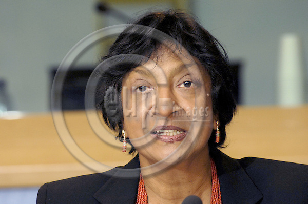Brussels-Belgium - 08 October 2008 -- Navanethem PILLAY, UN High Commissioner for Human Rights (UNHCHR - since 01 September 2008), during a press conference in the EP -- Photo: Horst Wagner / eup-images