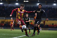 Shay McCartan of Bradford City during the Sky Bet League 1 match between Bradford City and Wigan Athletic at the Northern Commercial Stadium, Bradford, England on 14 March 2018. Photo by Thomas Gadd.